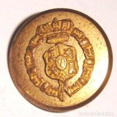 Militaria: BOTON PEQUEÑO CON ESCUDO REAL. Lote 151165662
