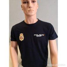 Militaria: CAMISETA POLICÍA NACIONAL MANGA CORTA COLOR NEGRA TALLAS DESDE LA S A LA XXL. Lote 151427654