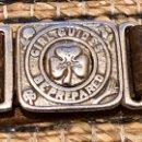 Militaria: CINTURÓN CUERO AÑO 1910 DE LAS GIRL GUIDES BOY SCOUTS. Lote 151524717