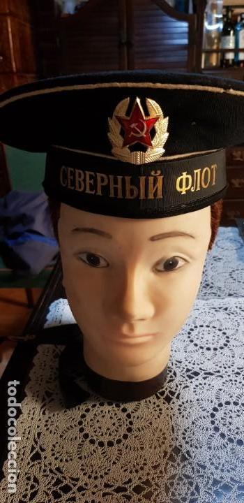 Militaria: Gorra marine militar original Lepanto Beskozyrka armada marina de guerra Unión Soviéticaa URSS Rusia - Foto 6 - 151643562
