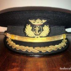 Militaria: GORRA DE CAPITÁN (JEFE) DE LA MARINA DE GUERRA. ÉPOCA DE FRANCO. Lote 151657898