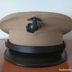 Militaria: GORRA USMC KAKHI FECHADA EN 1958. (MUY INUSUAL). Lote 151716442