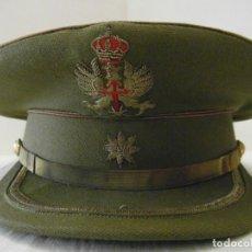 Militaria: GORRA DE PLATO DE COMANDANTE. EJERCITO DE TIERRA. DIAMETRO 55 CM. LA FAMA. Lote 151933178