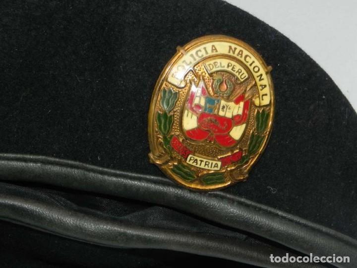 Militaria: ANTIGUA GORRA POLICIA NACIONAL DEL PERU, DIOS PATRIA LEY, PRECIOSA PLACA ESMALTADA, 54 CMS DE DIAMET - Foto 4 - 151934834
