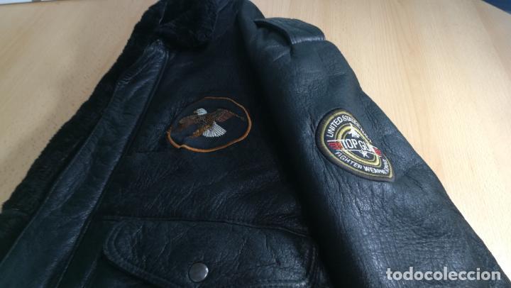 Militaria: IMPONENTE Cazadora MOTERA estilo aviador TOP GUM, viene a ser un XL - Foto 21 - 152231162