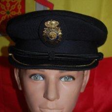 Militaria: GORRA DE PLATO LUJO POLICIA NACIONAL TALLA 61-03. Lote 152475870