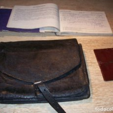 Militaria: ANTIGUA CARTERA DE CAMINOS DE GUARDIA CIVIL .LIBRETA DE MULTAS Y FUNDA CREDENCIAL .. Lote 77639121