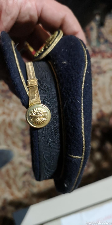 Militaria: Miniatura de gorra de plato para oficial de gala del Ejército de Tierra época Franco - Foto 3 - 153071100