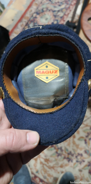 Militaria: Miniatura de gorra de plato para oficial de gala del Ejército de Tierra época Franco - Foto 4 - 153071100