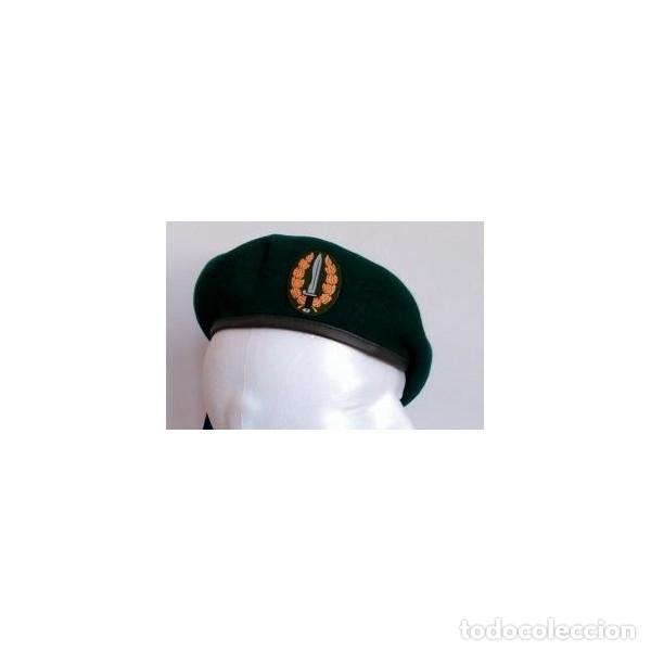 ESTUPENDA BOINA GOE VI DE COLOR VERDE LA VICTORIA TALLAS DE LA 54 A LA 60 INCLUYE PARCHE (Militar - Boinas y Gorras )