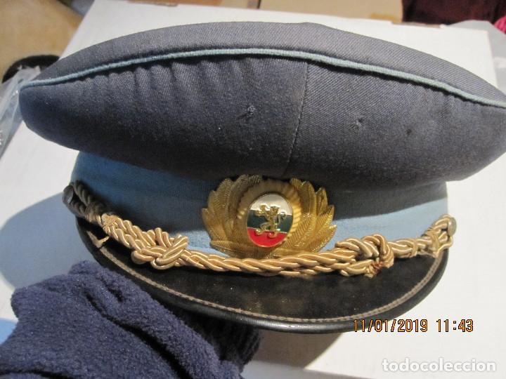 ANTIGUA GORRA MILITAR DE LA AVIACION BULGARA BUEN ESTADO DE CONSERBACION (Militar - Boinas y Gorras )