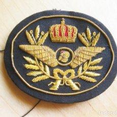 Militaria: GALLETA BORDADA DEL FRENTE DE UNA GORRA DE PILOTO DE IBERIA. Lote 154593158