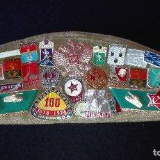 Militaria: GORRA MILITAR PILOTKA URSS CON INSIGNIAS, PARCHES Y PINS. Lote 154826382