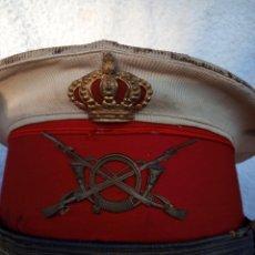 Militaria: GORRA DE OFICIAL EPOCA ALFONSO XXIII CON FOTO INCLUIDA. Lote 154827458