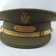 Militaria: ANTIGUA GORRA DE PLATO, SARGENTO EJERCITO ESPAÑOL EPOCA FRANQUISTA, FABRICADA POS SATRERIA LOPEZ, MA. Lote 154931306