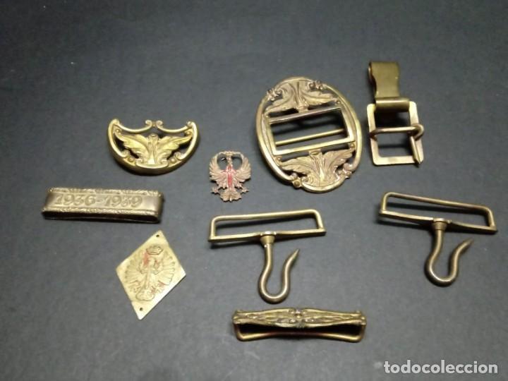 LOTE DE METALES PARA CINTURÓN DE GALA OFICIAL EJERCITO DE TIERRA (Militar - Cinturones y Hebillas )