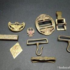 Militaria: LOTE DE METALES PARA CINTURÓN DE GALA OFICIAL EJERCITO DE TIERRA. Lote 155418750