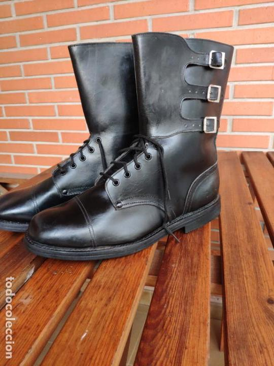 Militaria: Botas Segarra 3 hebillas ejército español talla 47 - Foto 4 - 155874290
