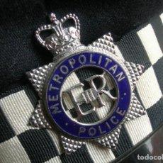 Militaria: RARA GORRA DE BOBBY DE LA POLICIA METROPOLITANA DE LONDRES. ORIGINAL 100%.. Lote 157920062