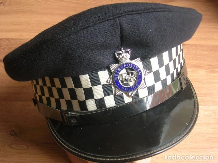 Militaria: RARA GORRA DE BOBBY DE LA POLICIA METROPOLITANA DE LONDRES. ORIGINAL 100%. - Foto 2 - 157920062