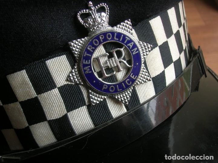 Militaria: RARA GORRA DE BOBBY DE LA POLICIA METROPOLITANA DE LONDRES. ORIGINAL 100%. - Foto 9 - 157920062