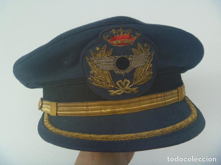 AVIACION : GORRA DE OFICIAL INGENIERO AERONAUTICO ( ROKISKI CON CIRCULO NEGRO ), EPOCA DE FRANCO (Militar - Boinas y Gorras )