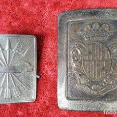 Militaria: PAREJA DE HEBILLAS. POLICÍA MUNICIPAL. FALANGE. ESPAÑA. CIRCA 1940. . Lote 158218946