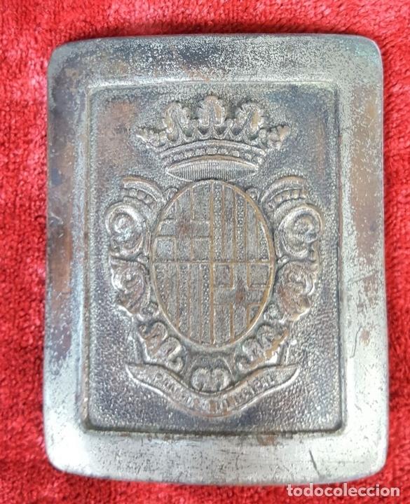 Militaria: PAREJA DE HEBILLAS. POLICÍA MUNICIPAL. FALANGE. ESPAÑA. CIRCA 1940. - Foto 3 - 158218946
