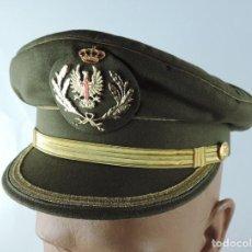 Militaria: GORRA DE PLATO PARA OFICIAL DEL EJÉRCITO DE TIERRA, FABRICA SEPULVEDA, MADRID, TALLA 55, ESTA COMO N. Lote 159639074