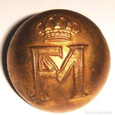 Militaria: BOTON FABRICA DE LA MONEDA 1861. Lote 160219414