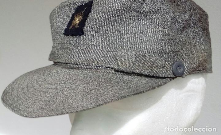 Militaria: Gorra gris granito faena y maniobras Infantería de Marina, Tercio Armada, de oficial, grande. - Foto 6 - 160566746