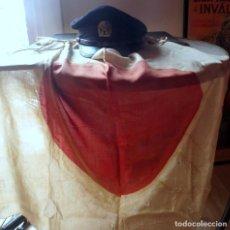 Militaria: (JX-190481)GORRA Y BANDERA JAPONESA , AVIACION ? 2ª GUERRA MUNDIAL ?. Lote 160568066
