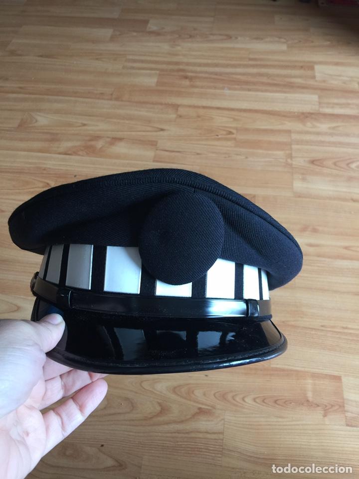 Militaria: Gorra de plato de policía local sin placa - Foto 2 - 160581621