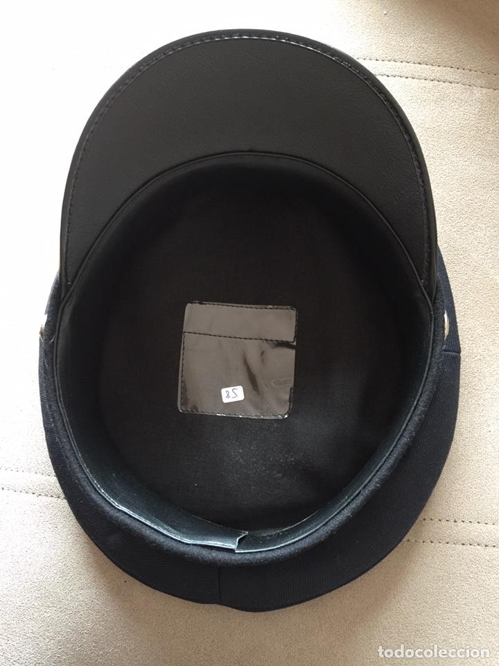 Militaria: Gorra de plato de policía local sin placa - Foto 3 - 160581621