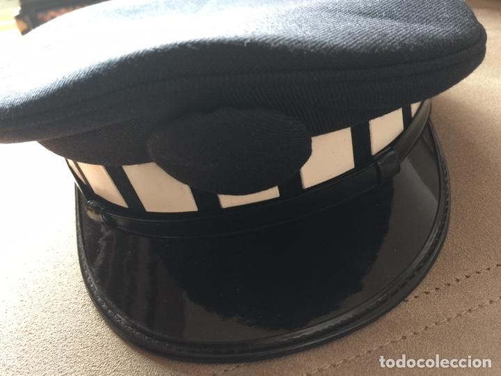 Militaria: Gorra de plato de policía local sin placa - Foto 7 - 160581621