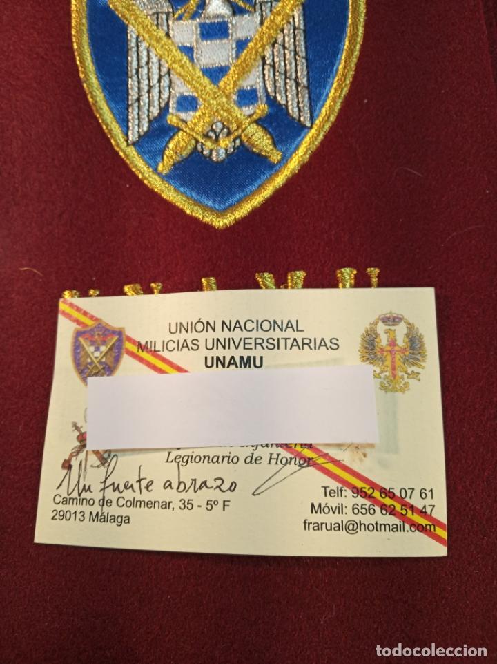 Militaria: Banda de la unión nacional de milicias universitarias. Unamu. Peteneciente a Alférez de infantería. - Foto 4 - 161091842