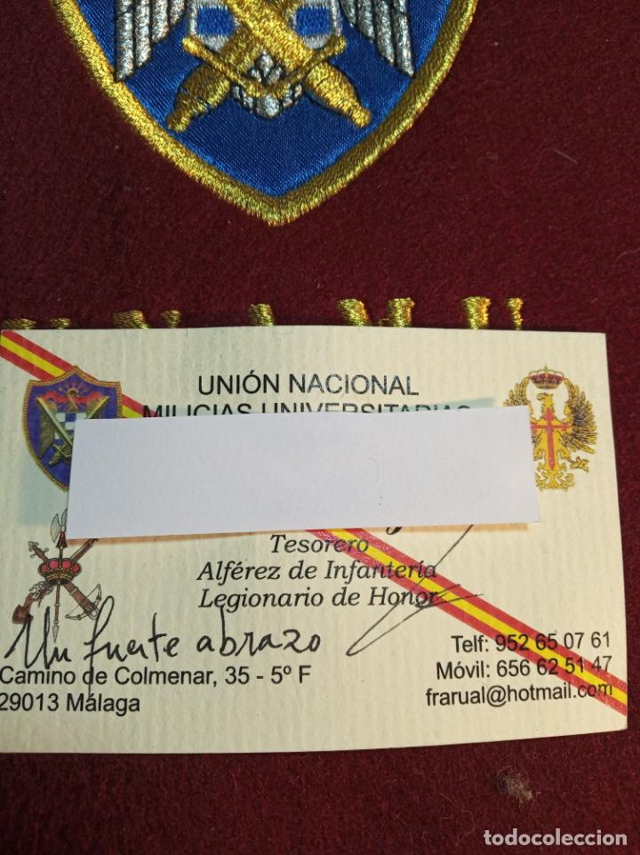 Militaria: Banda de la unión nacional de milicias universitarias. Unamu. Peteneciente a Alférez de infantería. - Foto 5 - 161091842