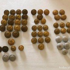Militaria: 51 BOTONES DE LA KRIEGSMARINE Y 8 DE LA WEHRMACHT, TERCER III REICH, HITLER NAZI NSDAP. Lote 163449706