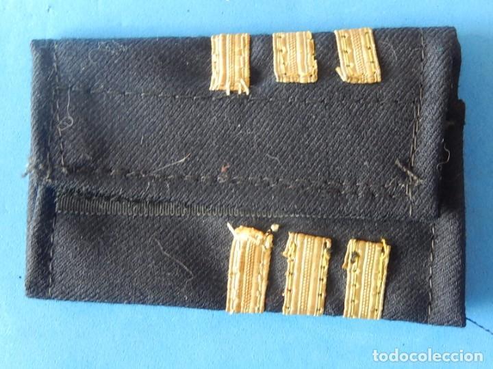 Militaria: Marina mercante española. Manguitos de oficial de máquinas. - Foto 5 - 163958034