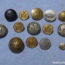 Militaria: * LOTE DE 14 ANTIGUOS BOTONES ESPAÑOLES, EPOCA ALFONSO XIII, REPUBLICA, GUERRA CIVIL Y FRANCO. ZX. Lote 165017650