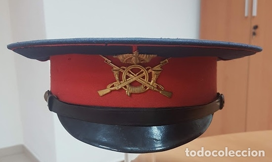 GORRA OFICIAL DE INFANTERIA EPOCA ALFONSO XIII REGLAMENTO DE 1908 (Militar - Boinas y Gorras )