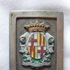 Militaria: HEBILLA DE LA GUARDIA URBANA DE BARCELONA.. Lote 165467790