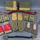 Militaria: LOTE DE GALONES HOMBRERAS Y COMPLEMENTOS DE UNIFORME GENERAL Y BRIGADA ÉPOCA DE FRANCO. Lote 165636730