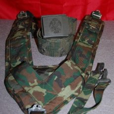 Militaria: TRINCHAS MILITARES MIMETIZADAS + DE REGALO CINTURON DE LONA MIMETIZADO. Lote 166462282