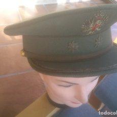 Militaria: GORRA DE PLATO DEL EJERCITO DE TIERRA DE TENIENTE CORONEL EPOCA DE FRANCO. Lote 166735054