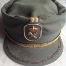 Militaria: ANTIGUA GORRA DE LA GUARDIA CIVIL, MANUFACTURA VALLE, SA. TALLA 56. Lote 166899160