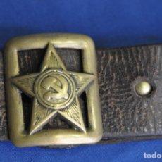 Militaria: URSS UNIÓN SOVIÉTICA. CINTURÓN DE OFICIAL DEL EJÉRCITO SOVIÉTICO. MODELO 1935. 2ª GUERRA MUNDIAL. Lote 166994080