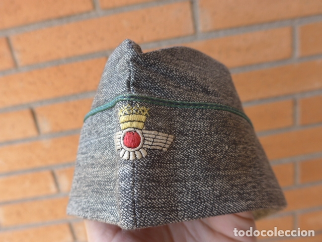 Militaria: * Antiguo gorrillo de aviacion española, epoca de Franco. Original. ZX - Foto 2 - 167616280