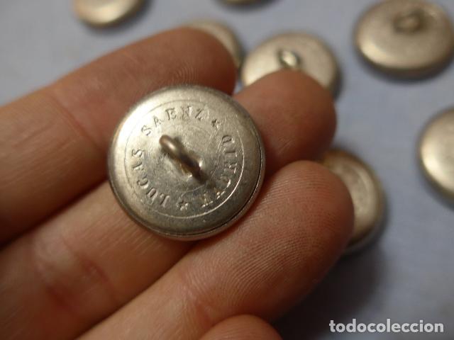 Militaria: * Lote 13 antiguos botones plateados de caballeria española, grandes, originales. ZX - Foto 4 - 168391236
