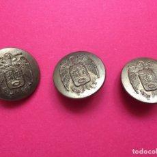 Militaria: ANTIGUOS 3 BOTONES METÁLICOS (POLICÍA MUNICIPAL MADRID; 1950'S) ÁGUILA ¡COLECCIONISTA! ¡ORIGINALES!. Lote 168600280